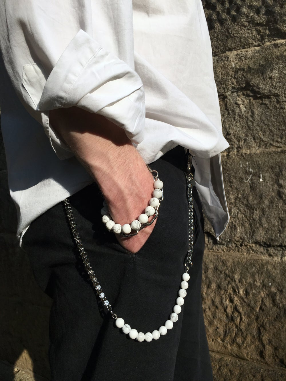 Image of Marble Bracelet with Big Link Chain
