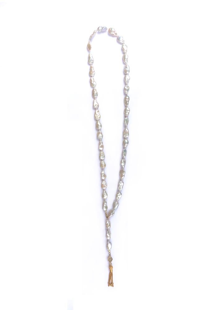 "Image of 36"" Ivory Pearl Lariat"