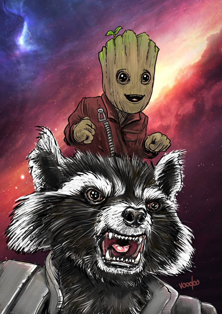 Image of Baby Groot & Rocket Raccoon