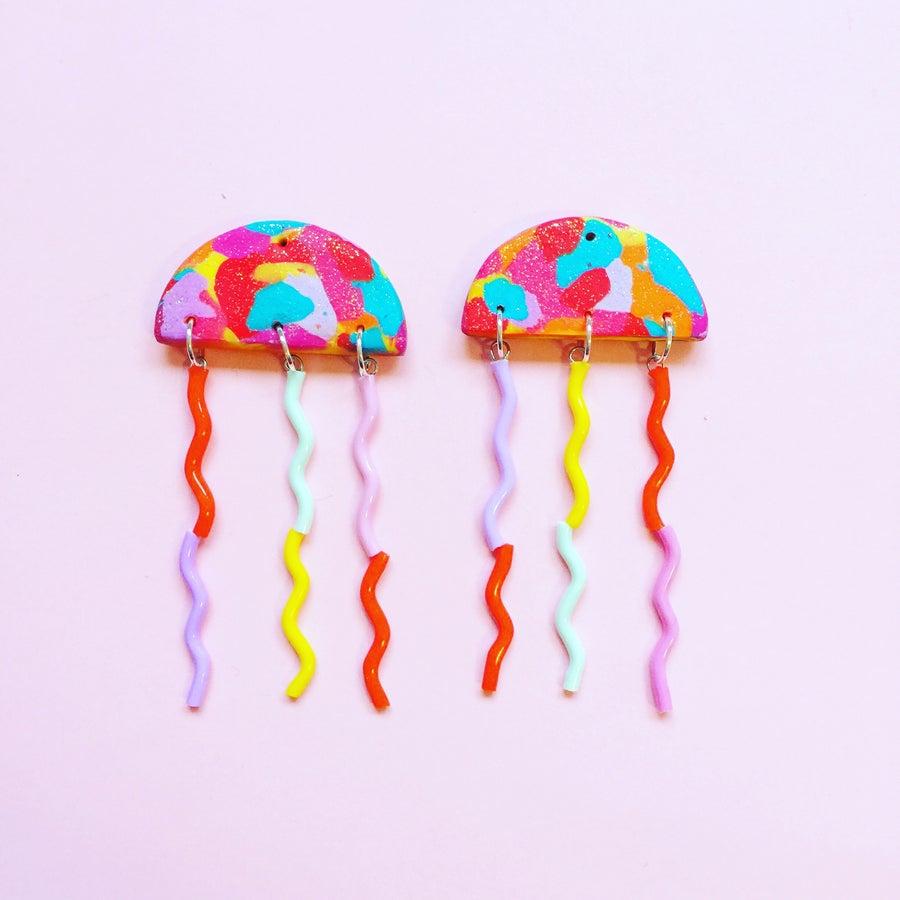 Image of NEW〰Rainbow jellies!! 〰jellyfish dangles 🌈