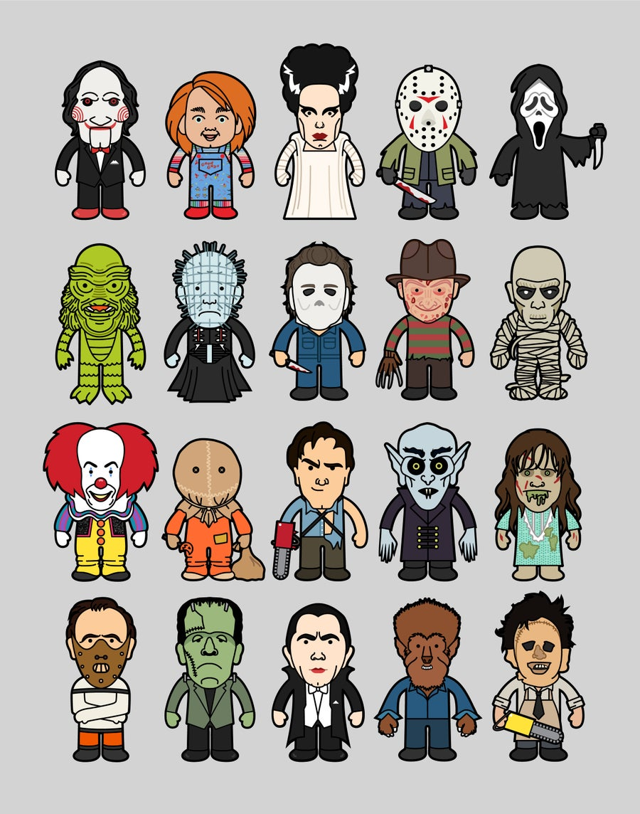 Image of HORROR ICONS | 11x14