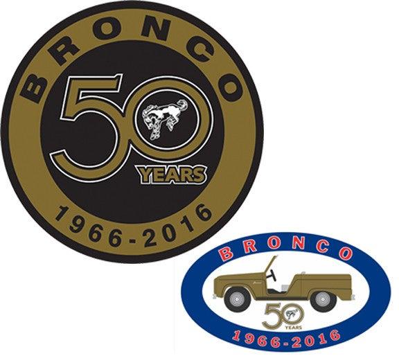 Image of Bronco 50th Anniversary Decal Set