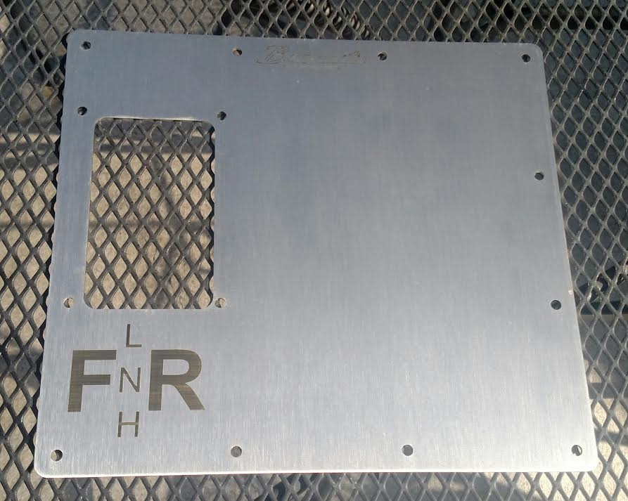 Image of Brushed Stainless Dana 20 Twin Stick Cover Plate