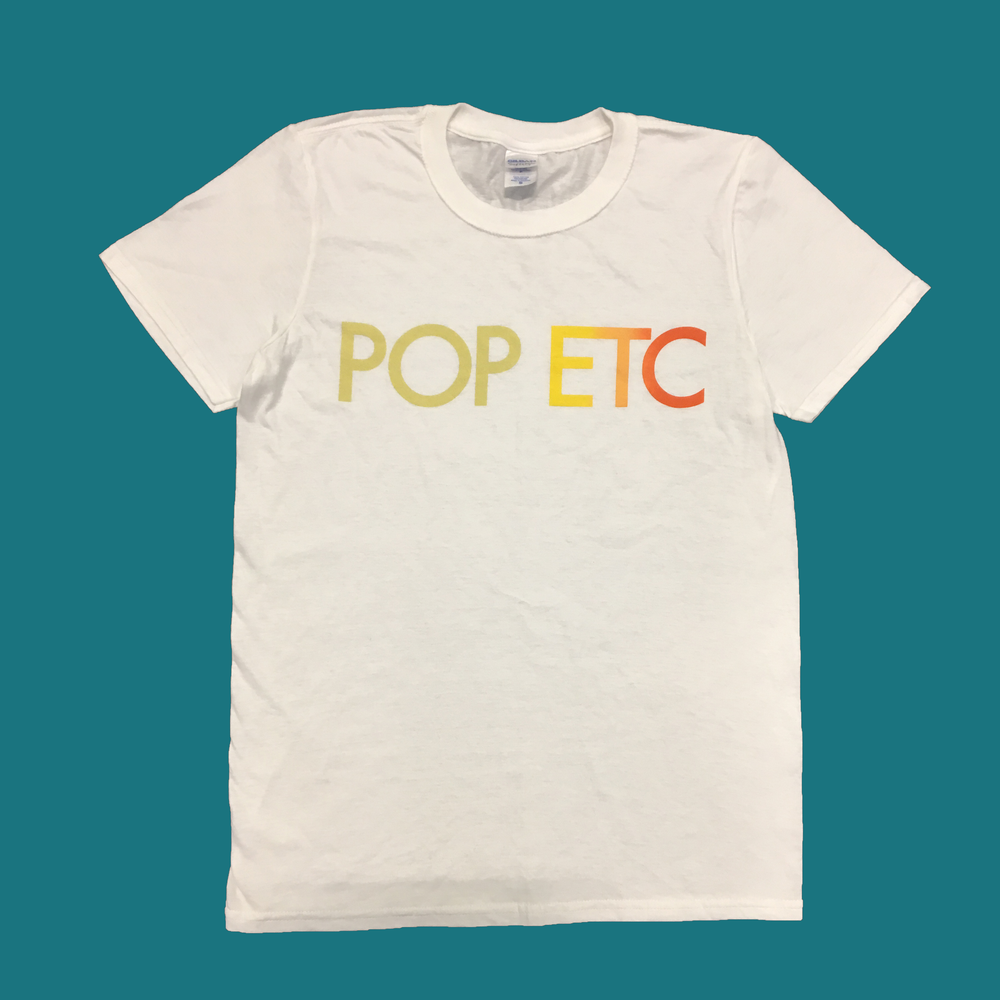 Image of POP ETC Logo White T Shirt