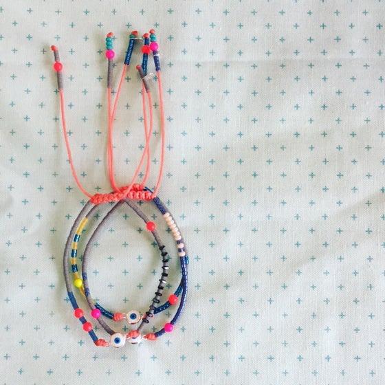 Image of Rainbow evil eye bracelet