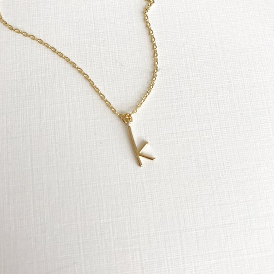 Image of Skinny initial necklace