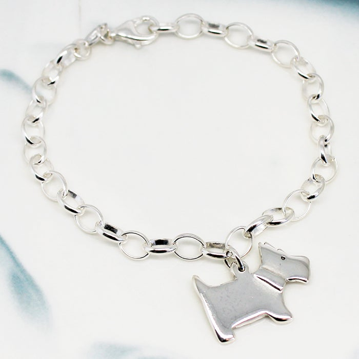 Image of Scottie Dog Sterling Silver Bracelet