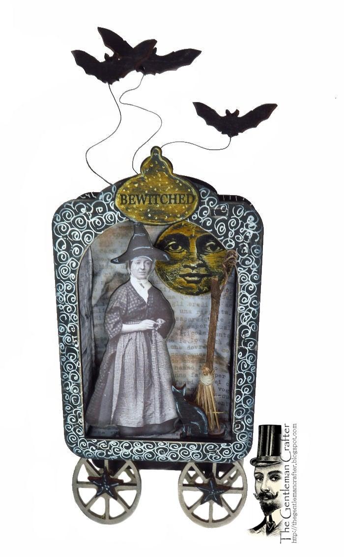 Image of Vintage Witch Wood Shrine Kit