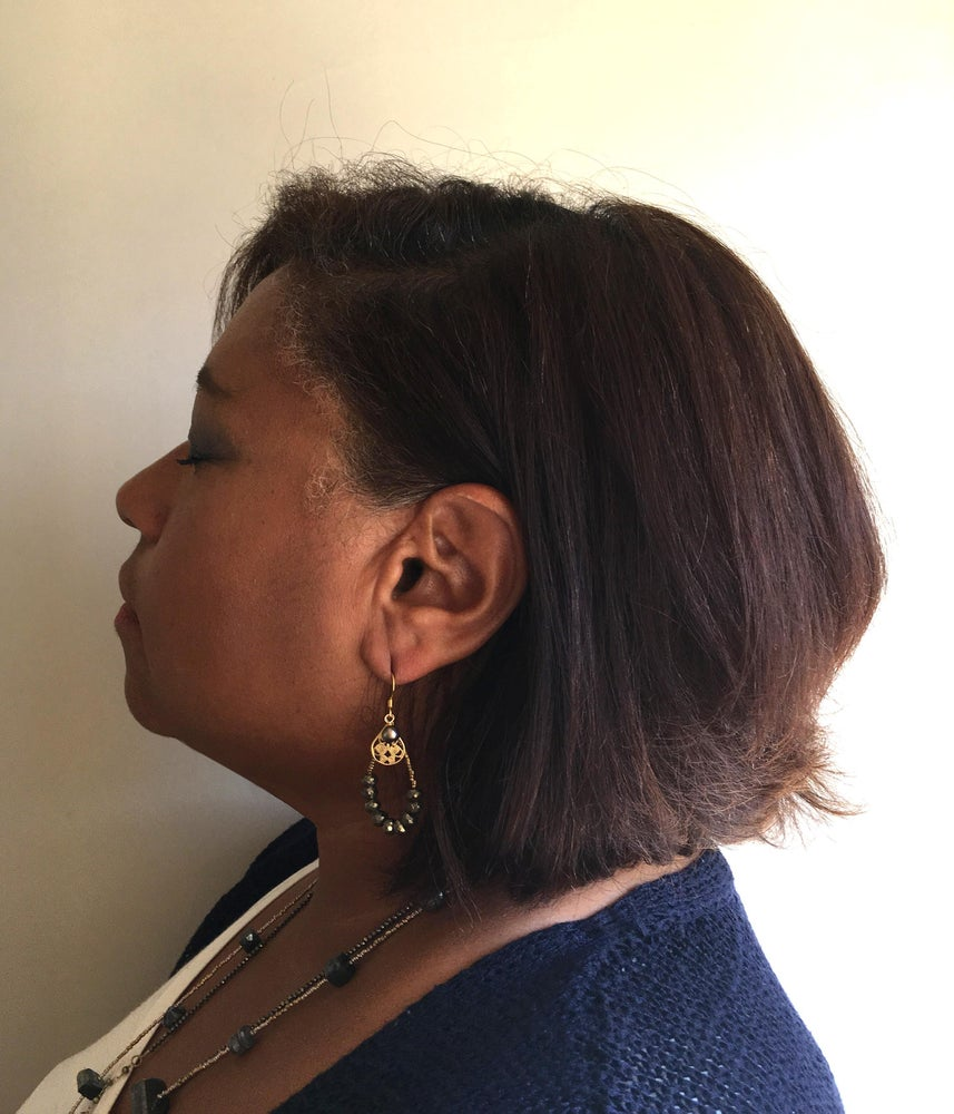 Image of Pyrite Hoop Earrings