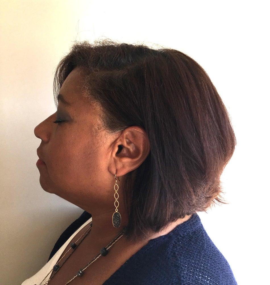 Image of Druzy Drop Earrings