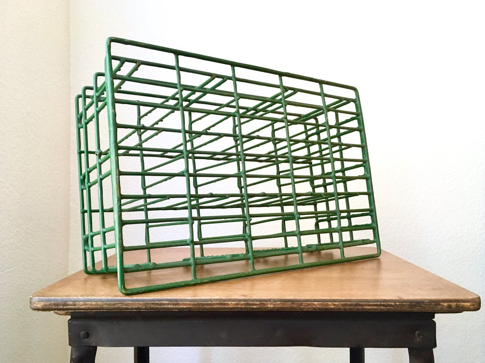 Image of Industrial Farmhouse Wire Bottle Crate
