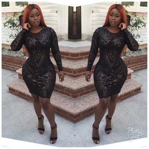 Image of Black Flair Dress