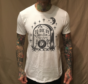 Image of MOZ TOMBSTONE ON WHITE TEE