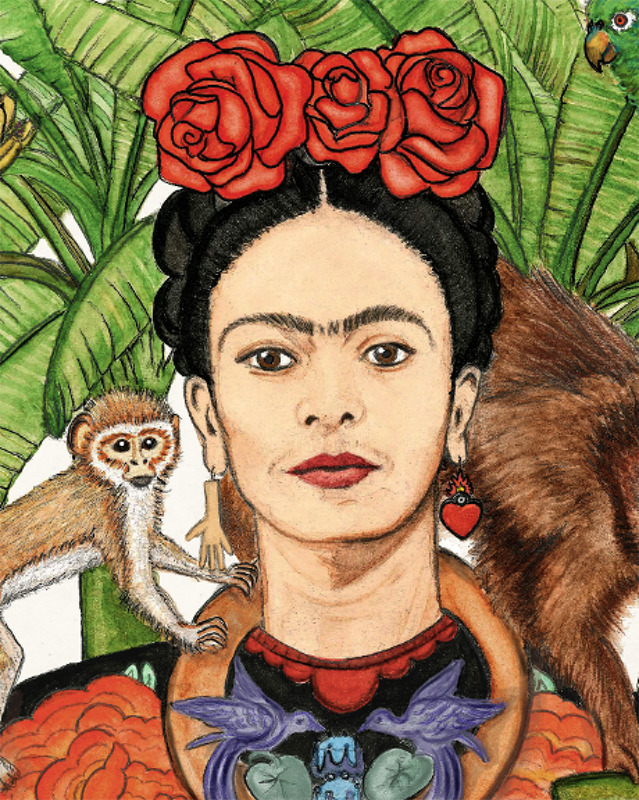 Image of Frida Kahlo Watercolor - Print