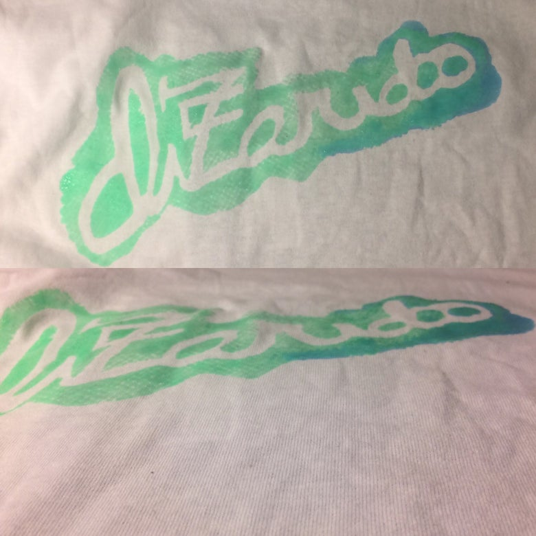 Image of Dizaridoo shirt (blue and green design)