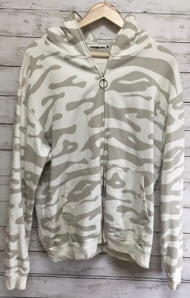 Image of Bape Fish Eye Full Zip Tiger camo hoodie
