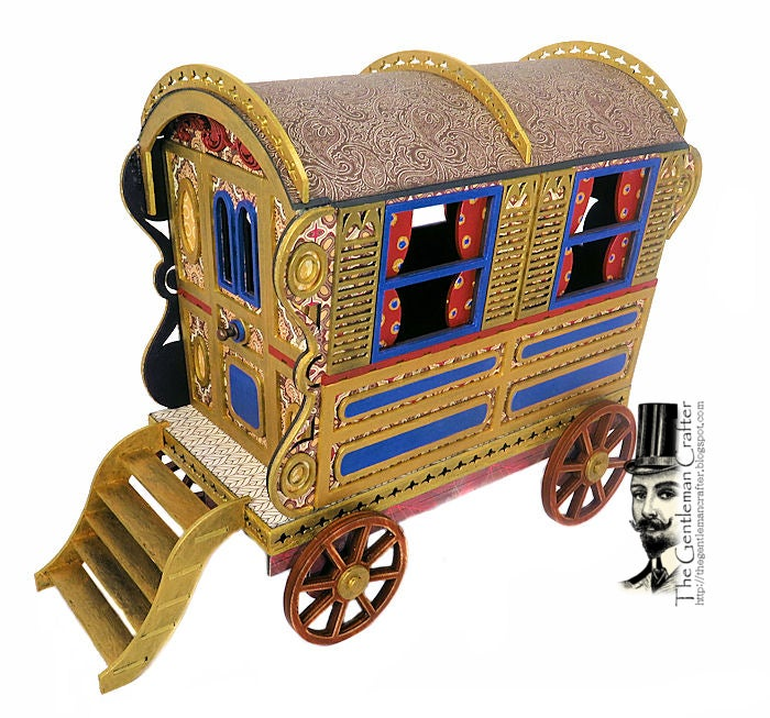 "Image of The Bowtop Gypsy Wagon-""Vardo"" Kit with Paper"