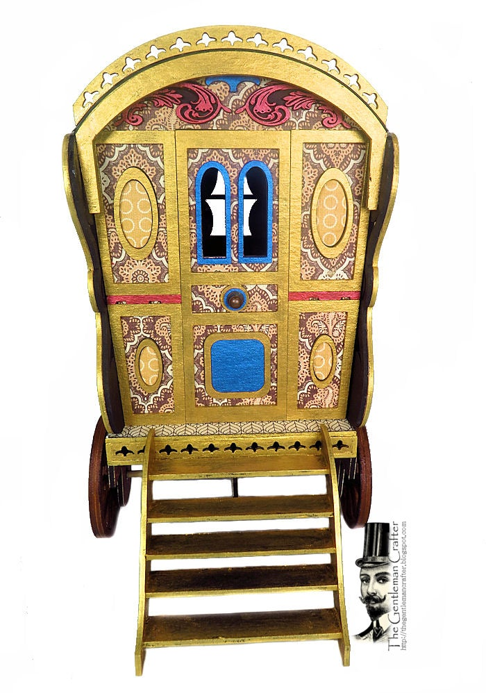"""Image of The Bowtop Gypsy Wagon-""""Vardo"""" Kit with Paper"""