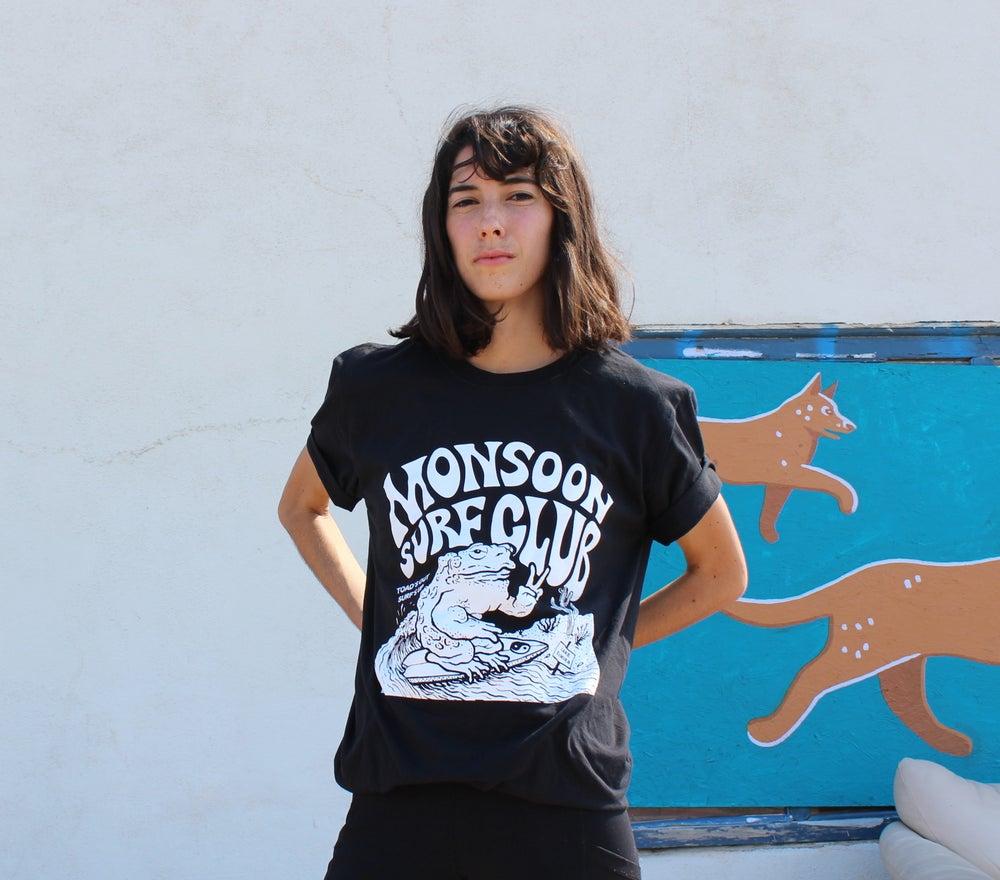 Image of Monsoon Surf Club -Black Shirt