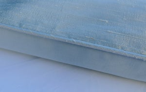Image of Ice Blue Silk Dupion Eiderdown