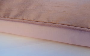 Image of Rose Silk Dupion Eiderdown