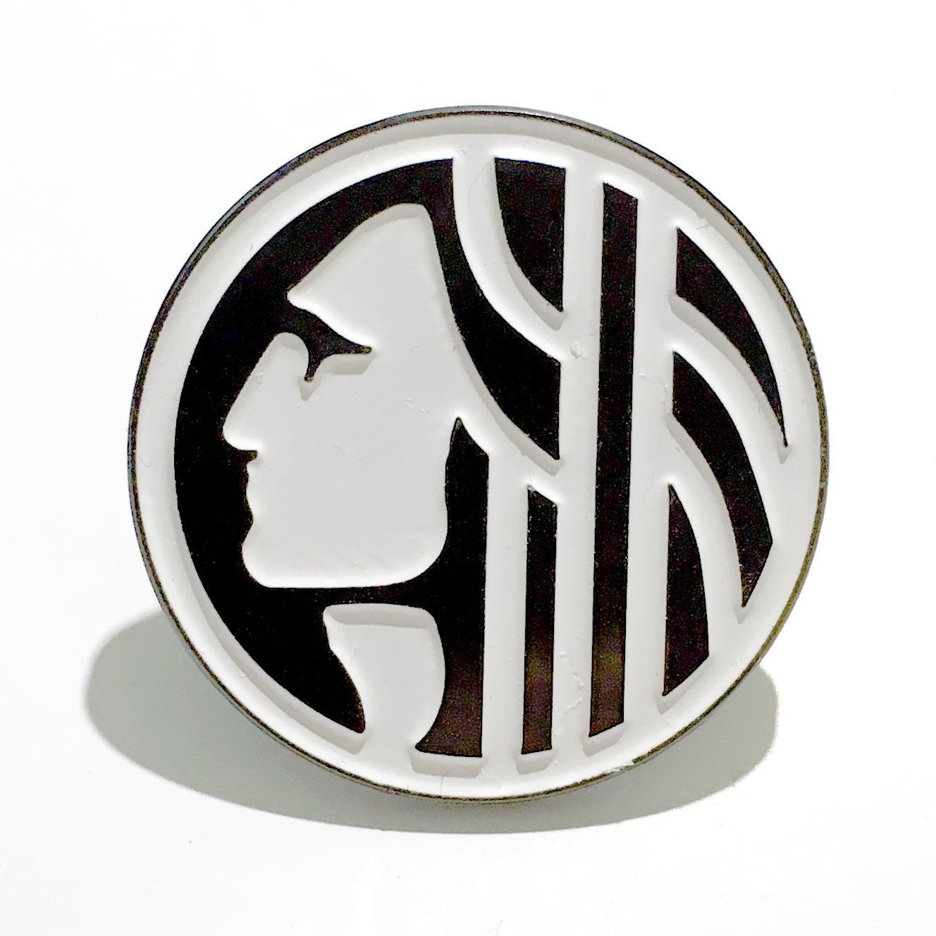 Image of Chief Seattle enamel pin (round)