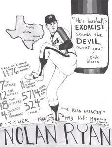 Image of Limited edition Nolan Ryan Every Hall of Famer print