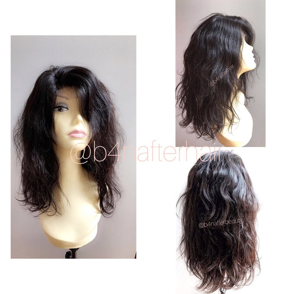 Image of Full wig unit with lace closure