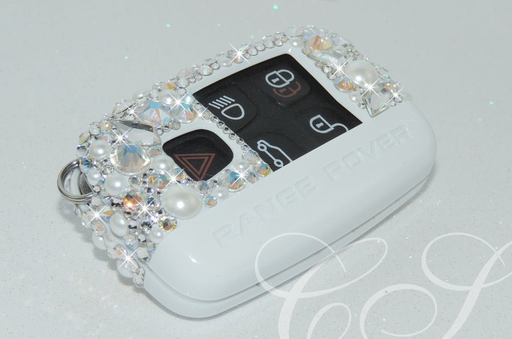 Image of RANGE ROVER KEY COVER WITH Diamonds & Pearls CRYSTALS BY SWAROVSKI®