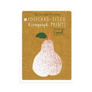 Image of 6 cartes nourriture en risographie