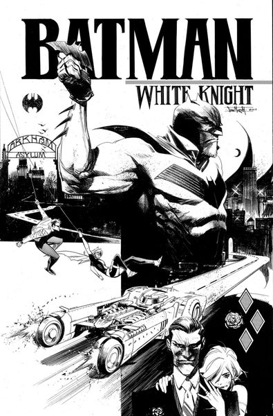 Image of Batman: White Knight #1 Variant (B&W Cover) Pre-Order