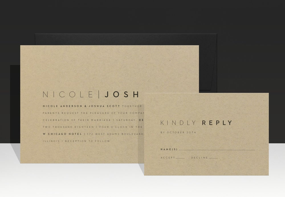 Image of  Urban Chic Wedding Invitation - Nicole