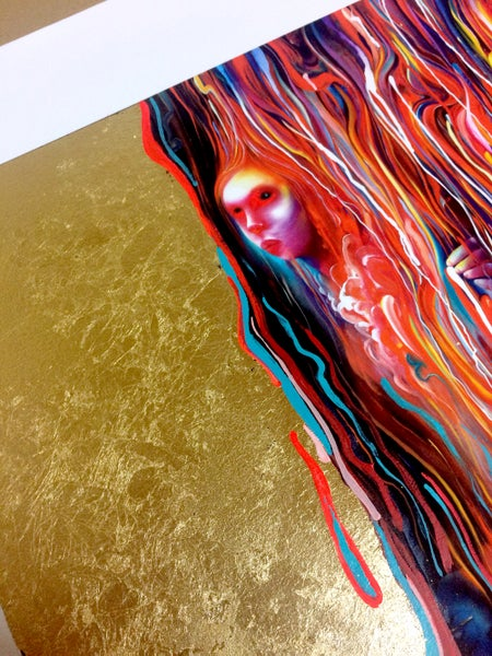 Image of Pure One Hand Embellished Print by Michael Page