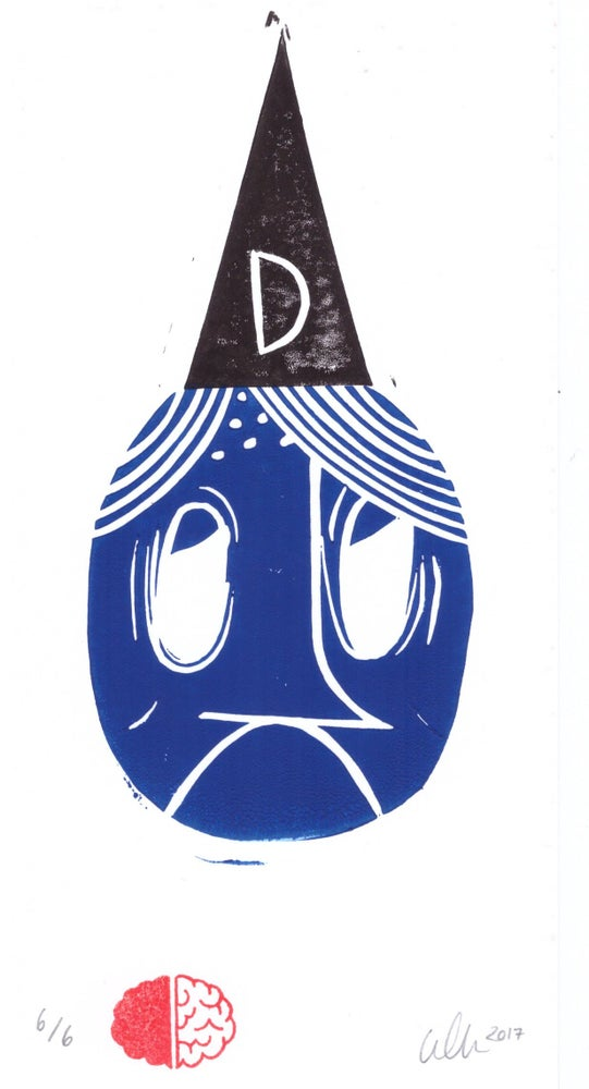 Image of Don't Know. Lino Print.