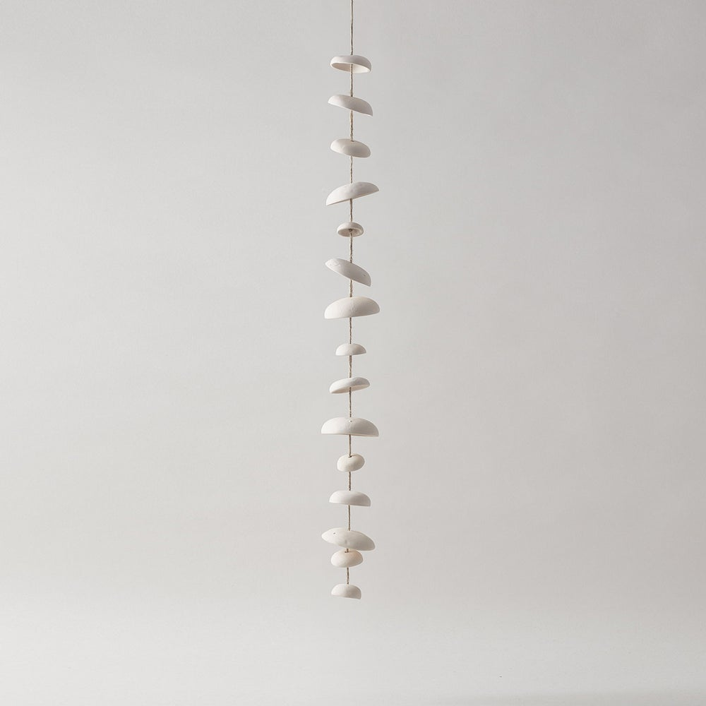 Image of Moon Chimes Full Set Unglazed Natural Buff Stoneware