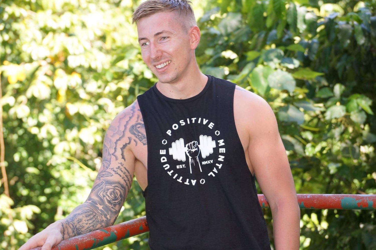 Image of Sleeveless 'Big Logo' Tee - Black