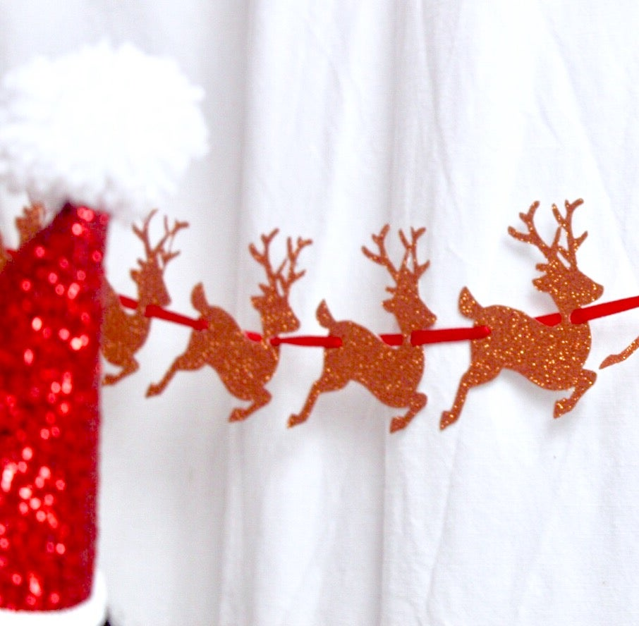 Image of Glitter reindeer banner