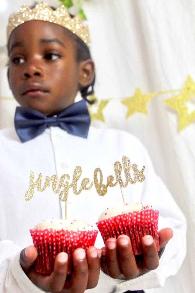 Image of Festive cake toppers