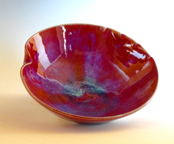 Image of Copper Red Altered Rim Bowl