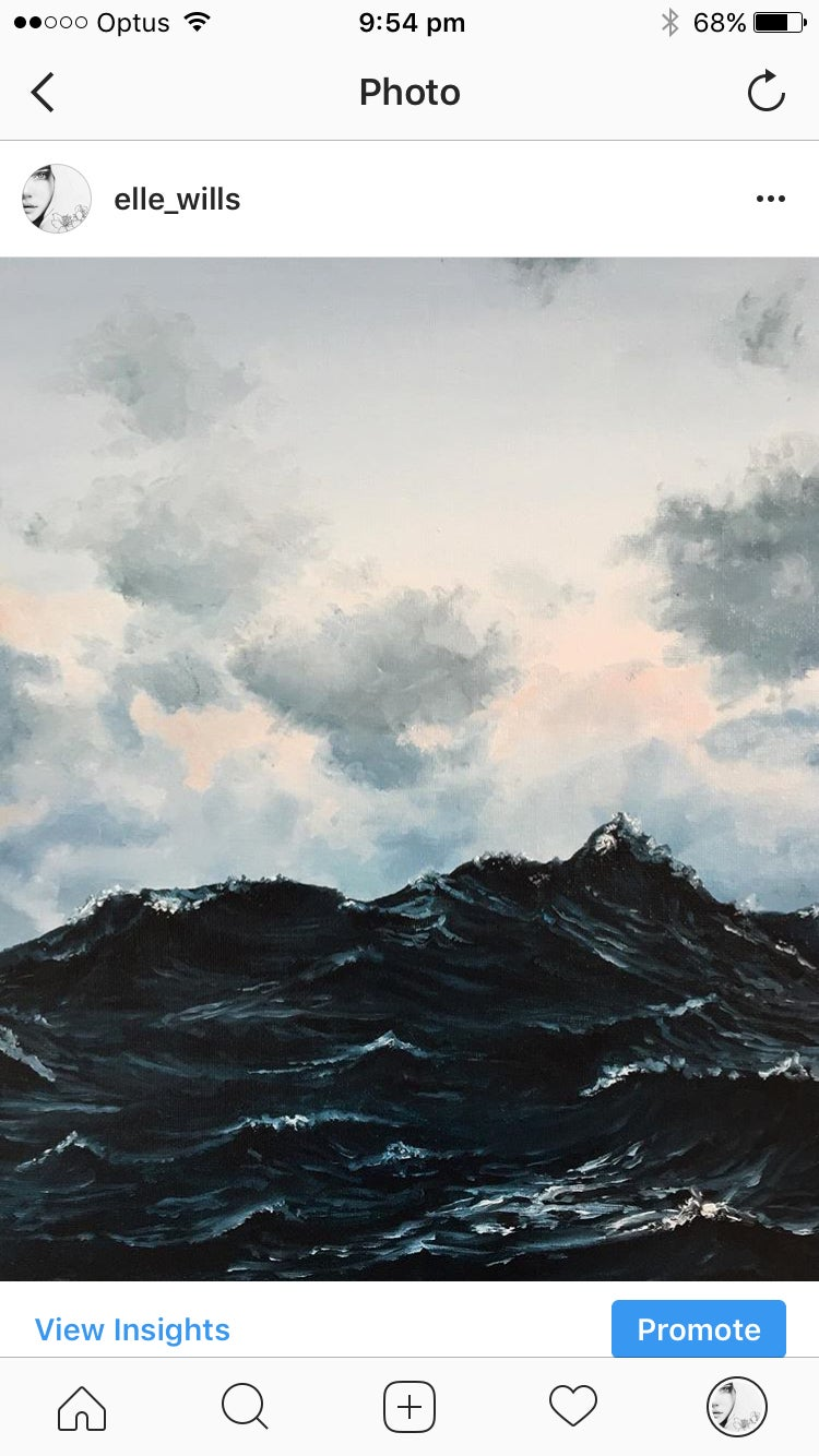 Image of ORIGINAL stormy sea