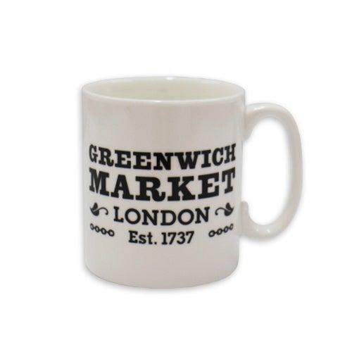 Image of Greenwich Market Mug - Black and White