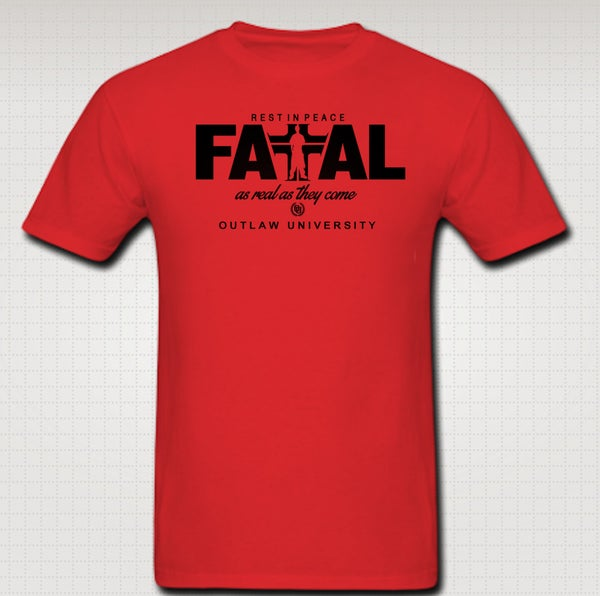 Image of Hussein Fatal realest Tshirt -Comes in Black,Red,Grey, Blue, White - CLICK HERE TO SEE ALL COLORS
