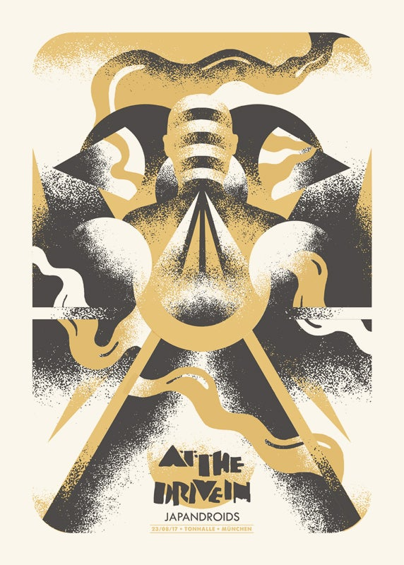 Image of AT THE DRIVE IN + JAPANDROIDS (Munich 2017) screenprinted poster