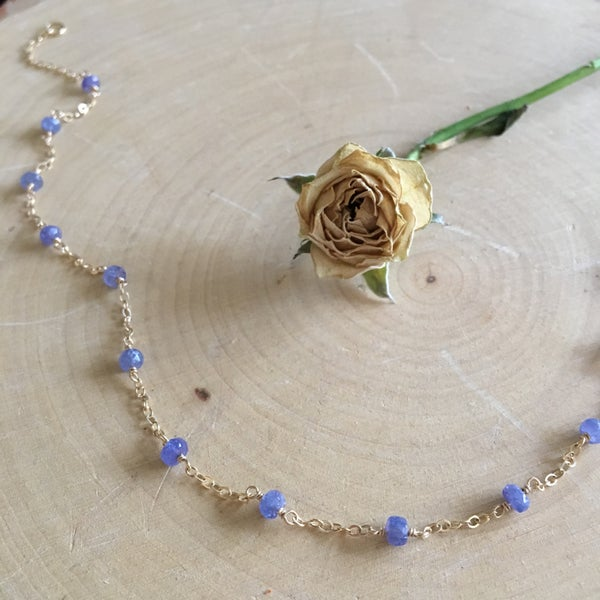 Image of Tanzanite choker