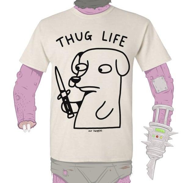 Image of The thug life dog shirt