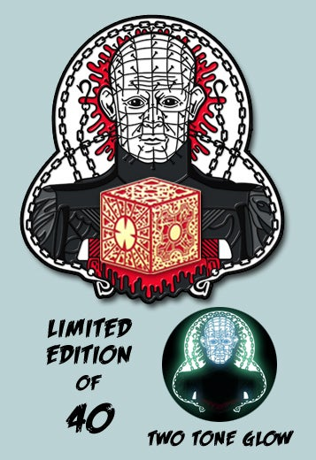 Image of PRE-ORDER Limited Edition Heck Priest Glow Enamel Pin