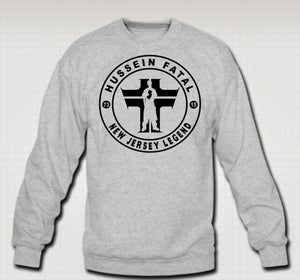 Image of Hussein Fatal Legends Crewneck - Comes in Black & Grey - CLICK HERE TO SEE ALL COLORS