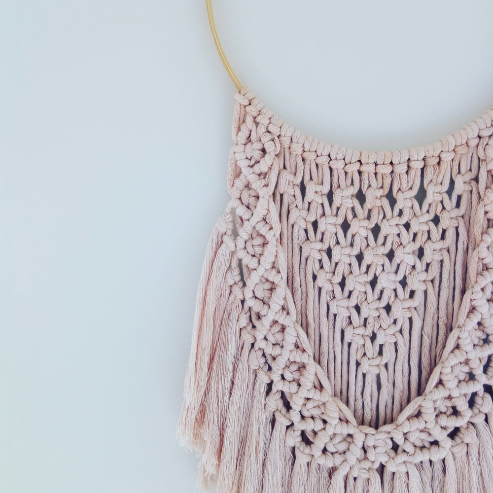 "Image of ""Audrey"" macrame wall hanging"