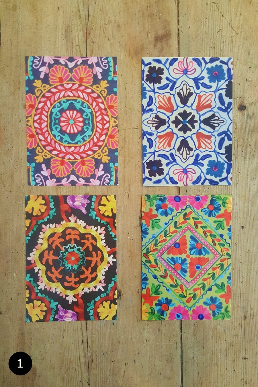 Image of Indian Patterned Postcards