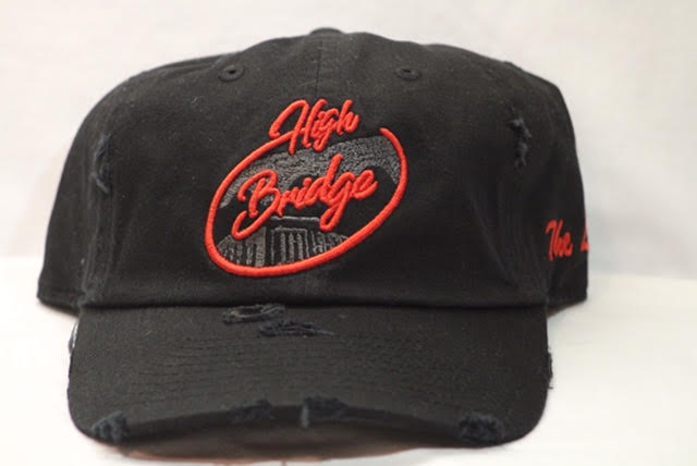 Image of Black and Red Bridge Logo Cap